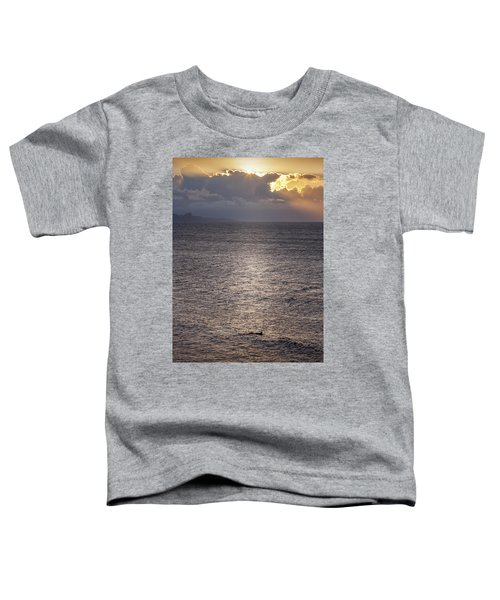 Waiting For The Last Wave Of The Day Toddler T-Shirt