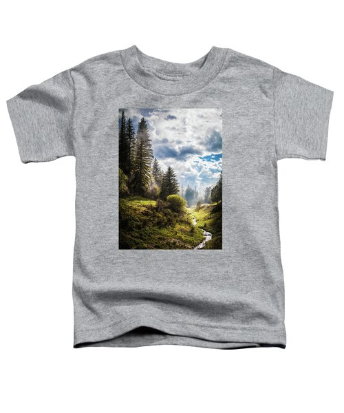 Waiting Out The Rain Toddler T-Shirt