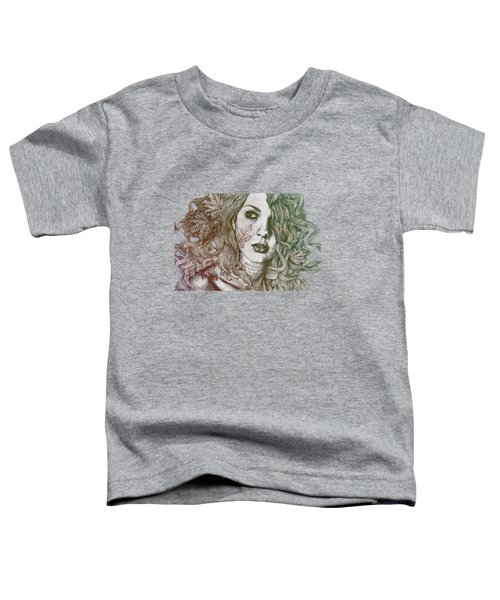 Wake - Autumn - Street Art Woman With Maple Leaves Tattoo Toddler T-Shirt