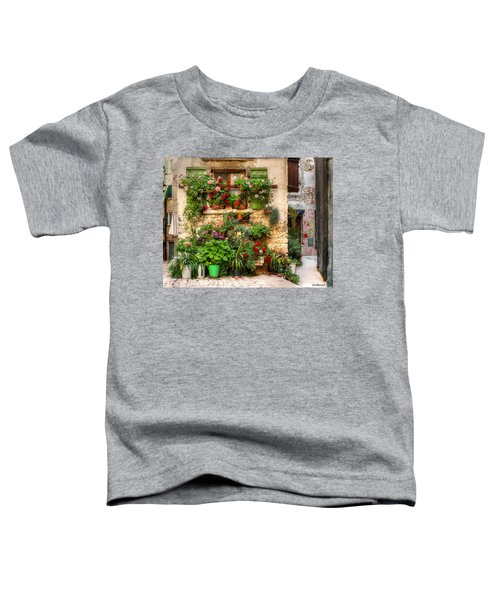 Wall Of Flowers Toddler T-Shirt