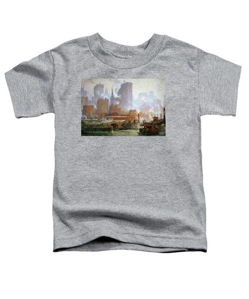 Wall Street Ferry Ship Toddler T-Shirt