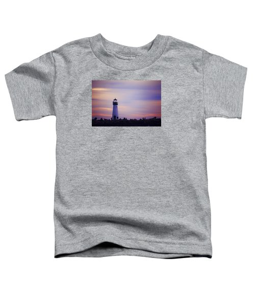 Toddler T-Shirt featuring the photograph Walton Lighthouse by Lora Lee Chapman