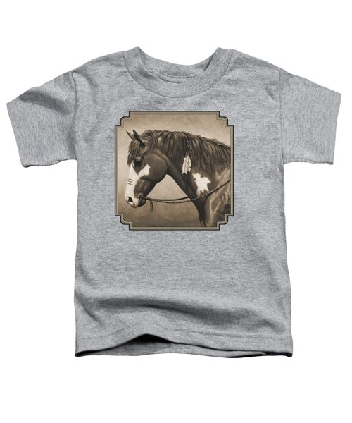 War Horse Aged Photo Fx Toddler T-Shirt by Crista Forest