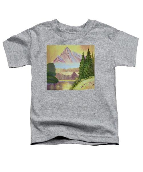 Warm Mountain Toddler T-Shirt