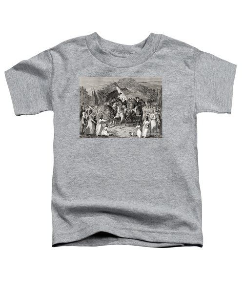 Washington Entering Trenton  New Jersey Usa, 1789 Toddler T-Shirt