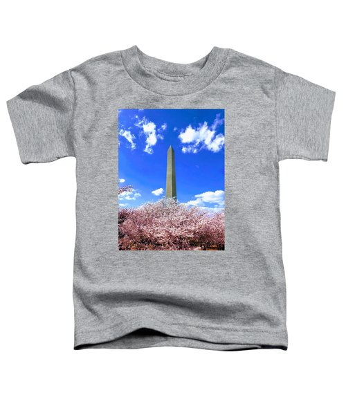 Washington Monument Cherry Blossoms Toddler T-Shirt