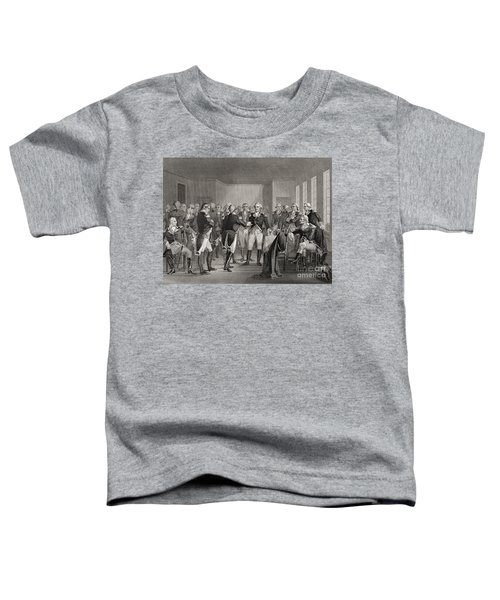 Washington Parting From His Officers At Fraunces Tavern, New York City, Usa, On December 4th 1783 Toddler T-Shirt