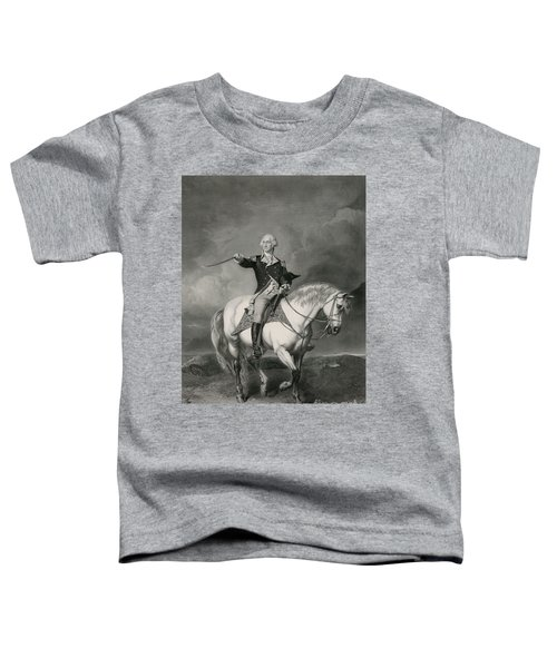 Washington Receiving A Salute On The Field Of Trenton Toddler T-Shirt
