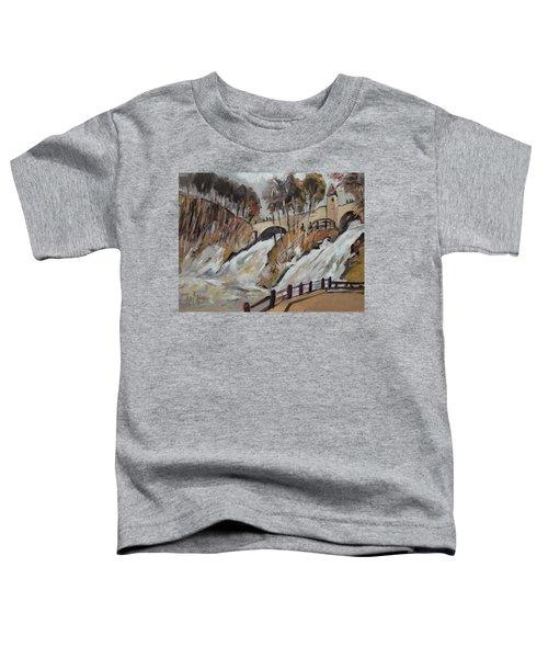 Watching The Cascades De Coo Toddler T-Shirt