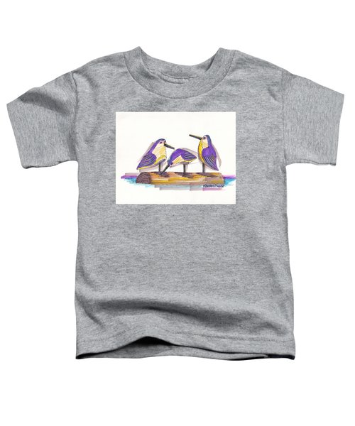 Water Fowl Motif #2 Toddler T-Shirt