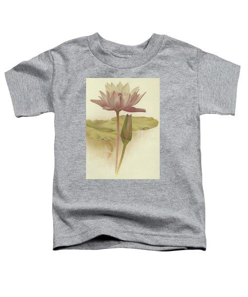 Water Lily  Nymphaea Zanzibarensis Toddler T-Shirt