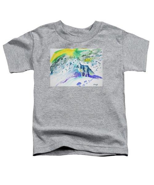 Watercolor - Arctic Fox Toddler T-Shirt