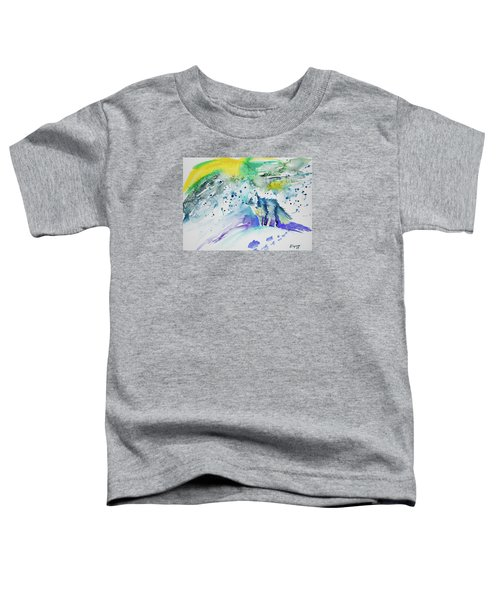 Watercolor - Arctic Fox Toddler T-Shirt