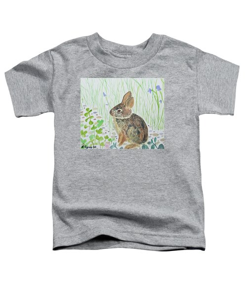 Watercolor - Baby Bunny Toddler T-Shirt
