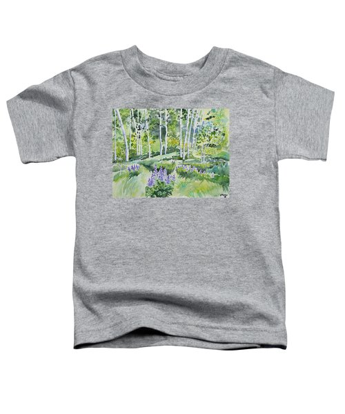 Watercolor - Early Summer Aspen And Lupine Toddler T-Shirt
