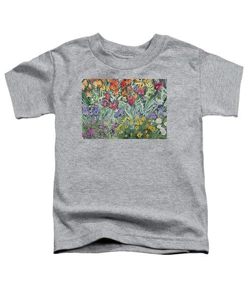 Watercolor - Empress Hotel Gardens Toddler T-Shirt