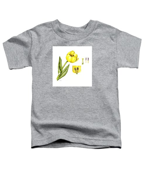 Watercolor Flower Yellow Tulip Toddler T-Shirt