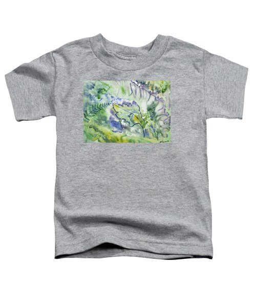 Watercolor - Leaves And Textures Of Nature Toddler T-Shirt