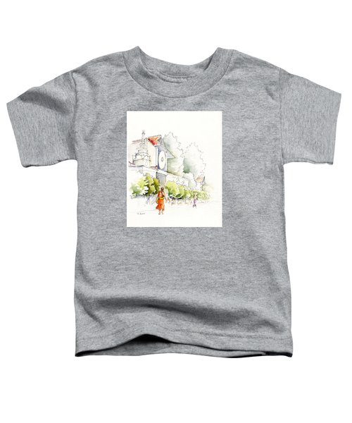Watercolor Painting Of Monk Toddler T-Shirt