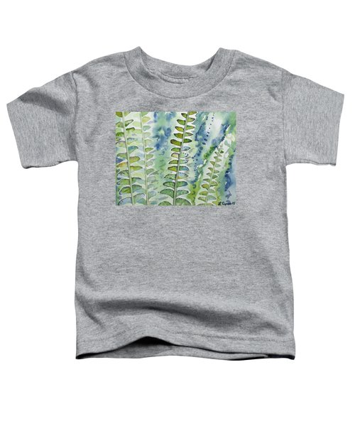 Watercolor - Rainforest Fern Impressions Toddler T-Shirt