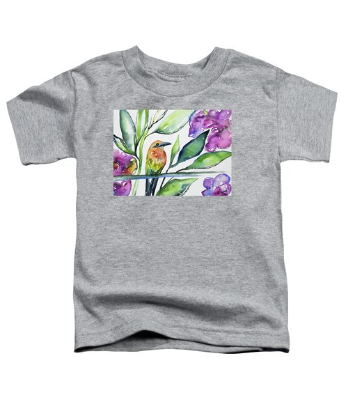 Watercolor - Rufous Motmot Toddler T-Shirt