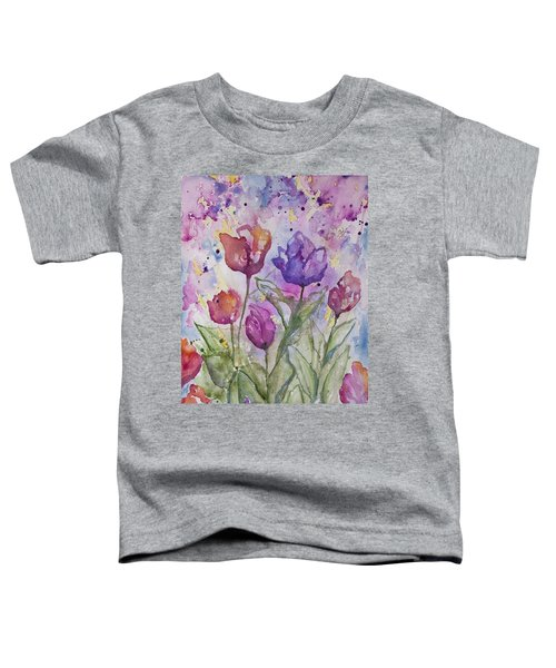 Watercolor - Spring Flowers Toddler T-Shirt