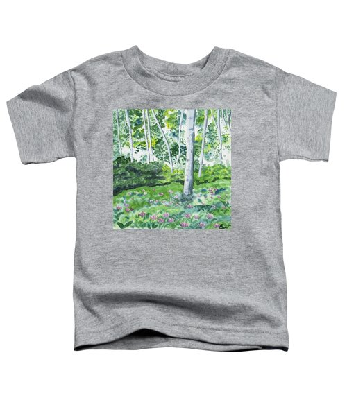 Watercolor - Spring Forest And Flowers Toddler T-Shirt