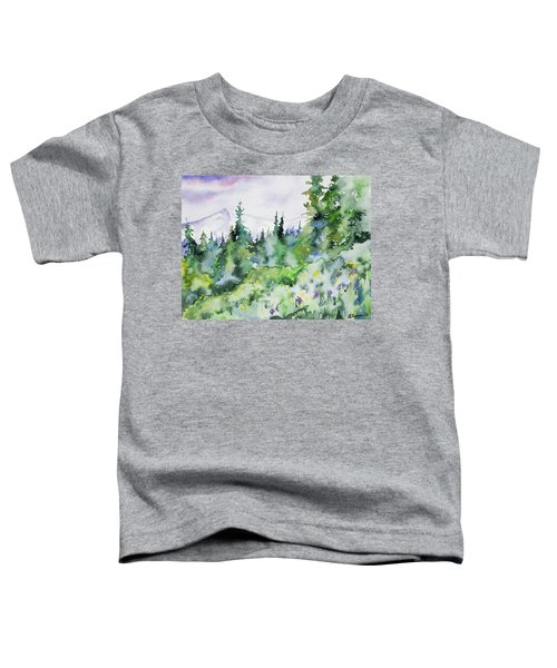 Watercolor - Summer In The Rockies Toddler T-Shirt