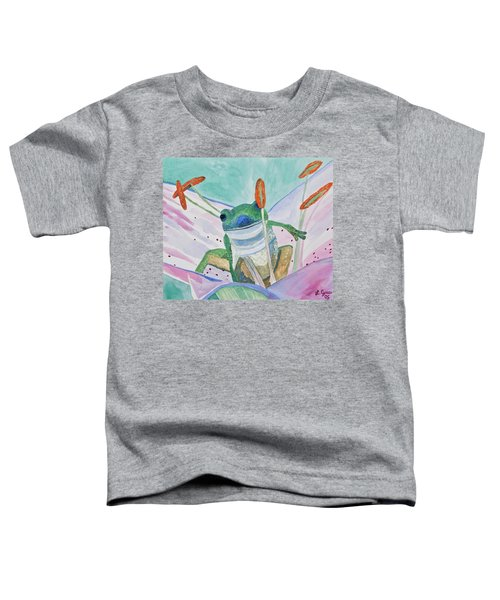 Watercolor - Tree Frog Toddler T-Shirt