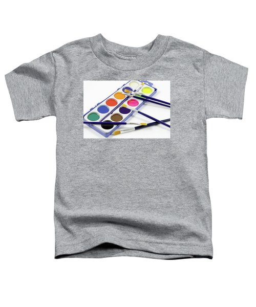 Watercolors And Brushes Toddler T-Shirt