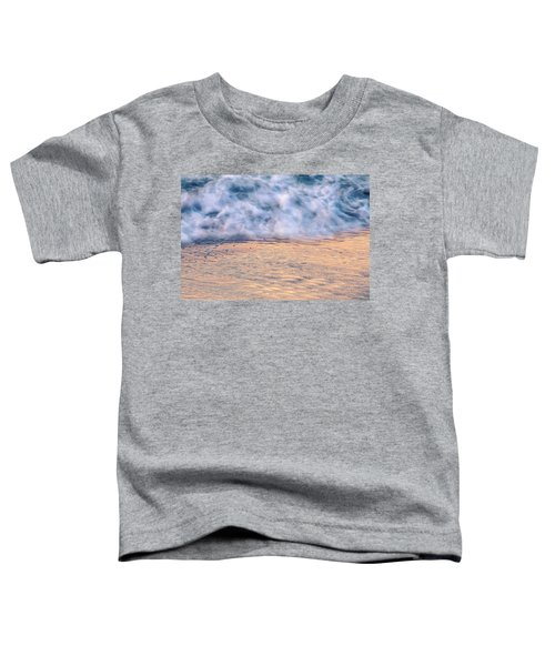 Toddler T-Shirt featuring the photograph Wave Abstract 3, Hoi An, 2014 by Hitendra SINKAR
