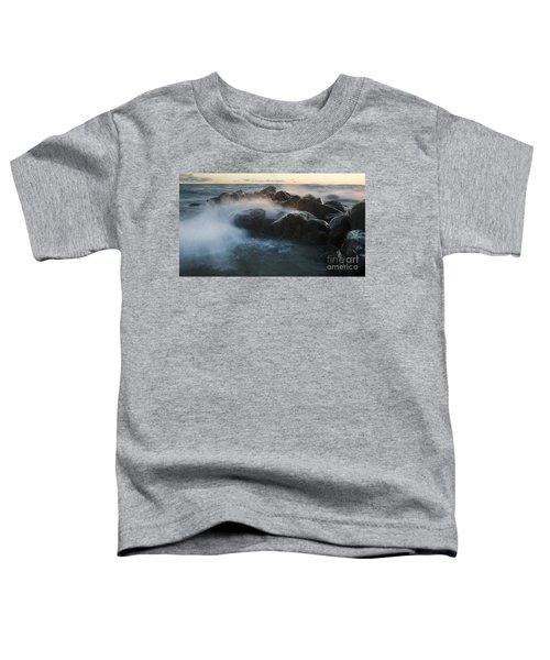 Wave Crashed Rocks 7947 Toddler T-Shirt