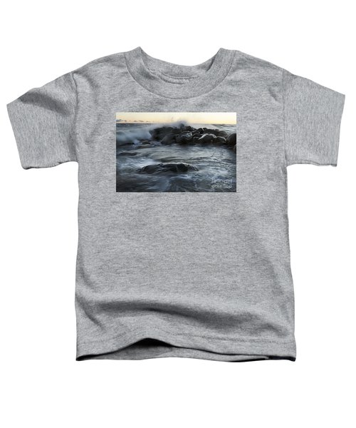 Wave Crashes Rocks 7838 Toddler T-Shirt