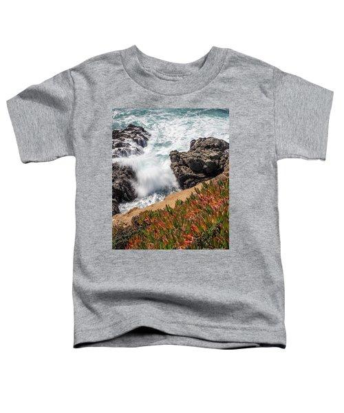 Waves And Rocks At Soberanes Point, California 30296 Toddler T-Shirt