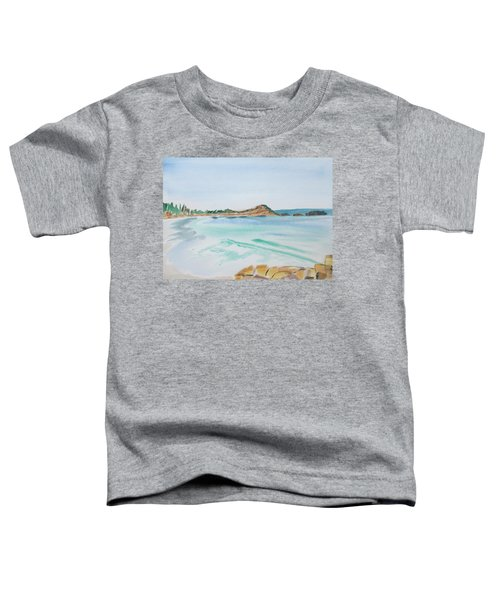 Waves Arriving Ashore In A Tasmanian East Coast Bay Toddler T-Shirt