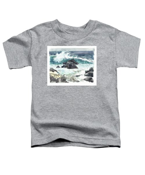 Toddler T-Shirt featuring the painting Wawaloli Beach, Hawaii by Judith Kunzle