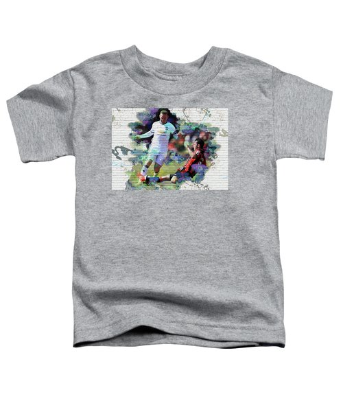 Wayne Rooney Street Art Toddler T-Shirt by Don Kuing