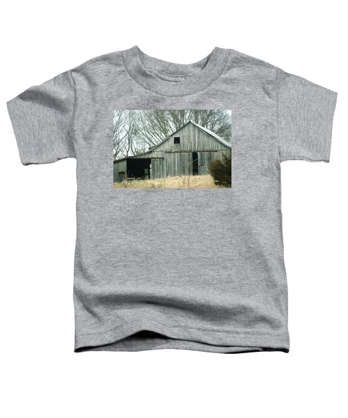 Weathered Barn In Winter Toddler T-Shirt