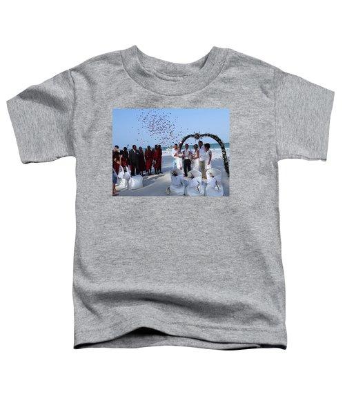 Wedding Party In Rose Petals Toddler T-Shirt