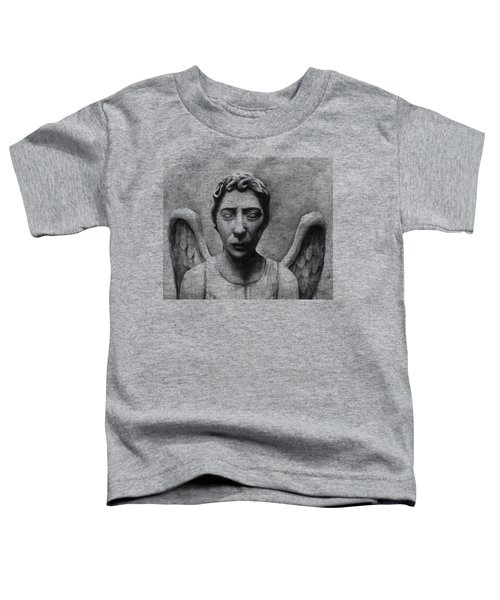 Weeping Angel Don't Blink Doctor Who Fan Art Toddler T-Shirt by Olga Shvartsur