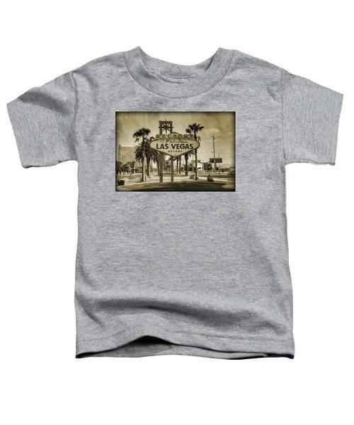 Welcome To Las Vegas Series Sepia Grunge Toddler T-Shirt