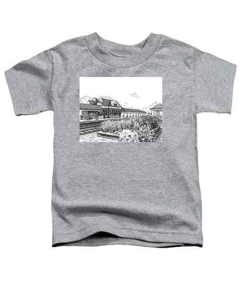 Western Springs Train Station Toddler T-Shirt