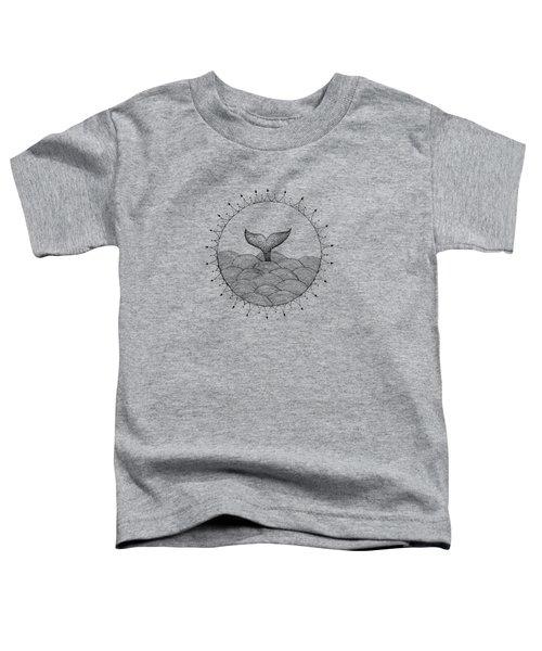 Whale In Waves Toddler T-Shirt by Konstantin Sevostyanov