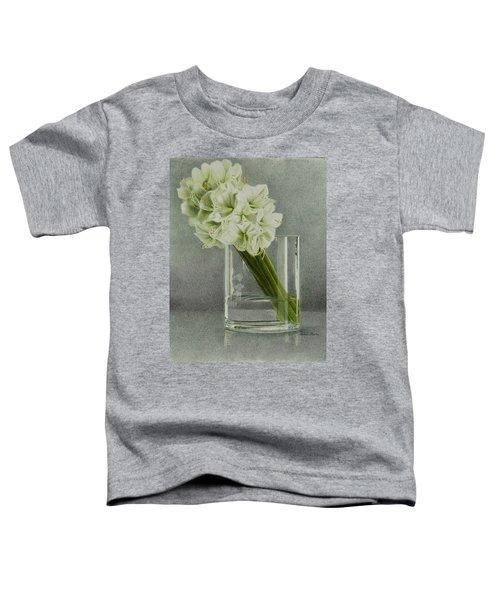 White Amaryllis Toddler T-Shirt