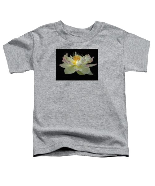 White And Pink Floral Toddler T-Shirt