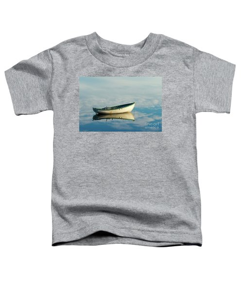 White Boat Reflected Toddler T-Shirt