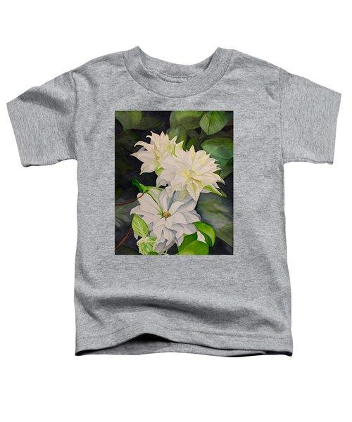 White Clematis Toddler T-Shirt