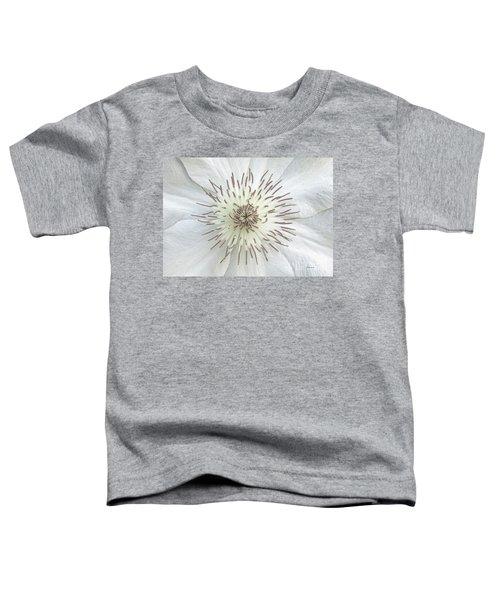 White Clematis Flower Garden 50121b Toddler T-Shirt