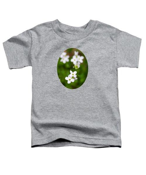 White Cuckoo Flowers Toddler T-Shirt