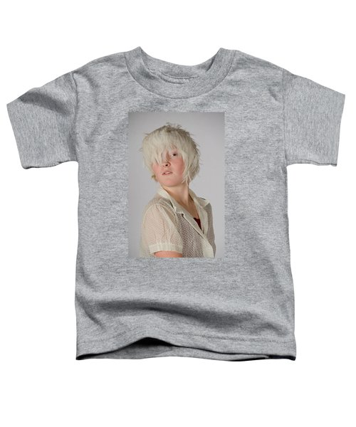 White Feather Wig Girl Toddler T-Shirt
